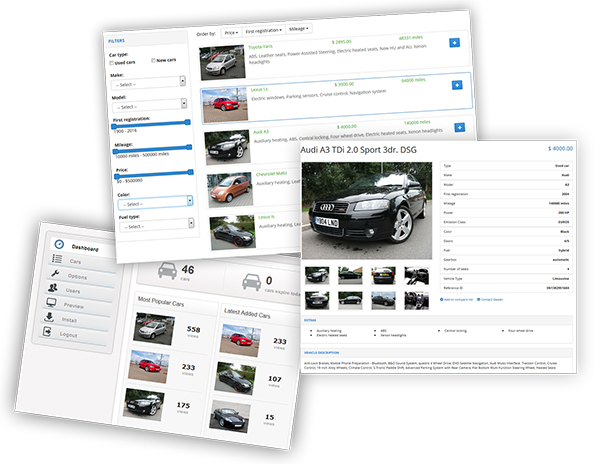 manage car listings and car ads
