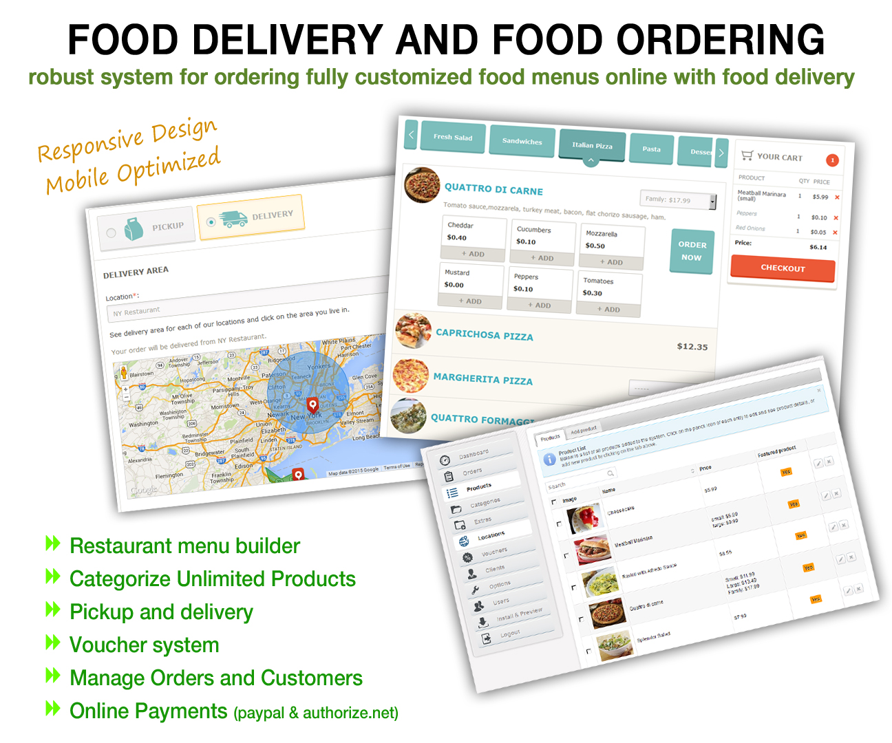 Online Food Menu Ordering and Food Delivery System