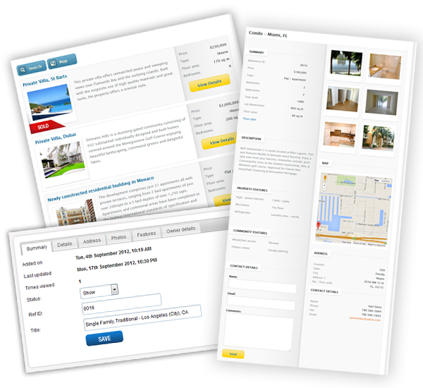 property listings for real estate agents