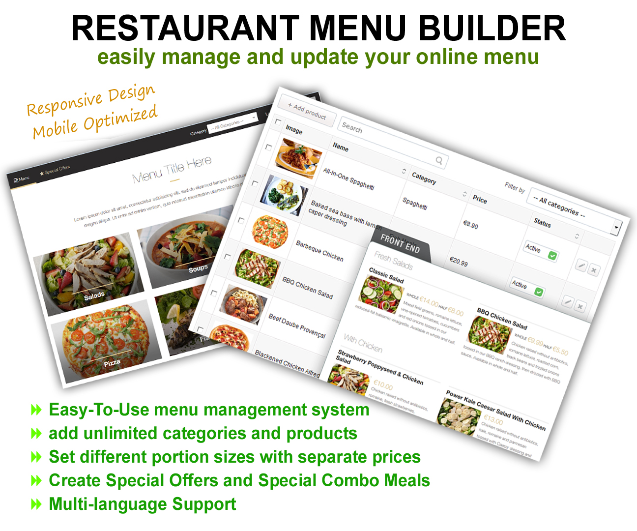 Restaurant Menu Builder